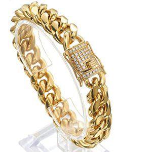 Zales 18k Gold Bracelet with Zirconia Diamonds